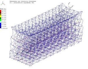 Гравитационный стеллаж распределение напряжений