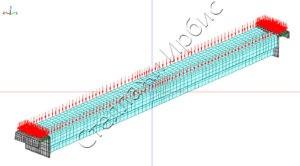 Расчёт нагрузки траверсы методом конечных элементов