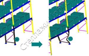 Расчёт внешнего воздействия на фронтальнвй стеллаж методом конечных элементов