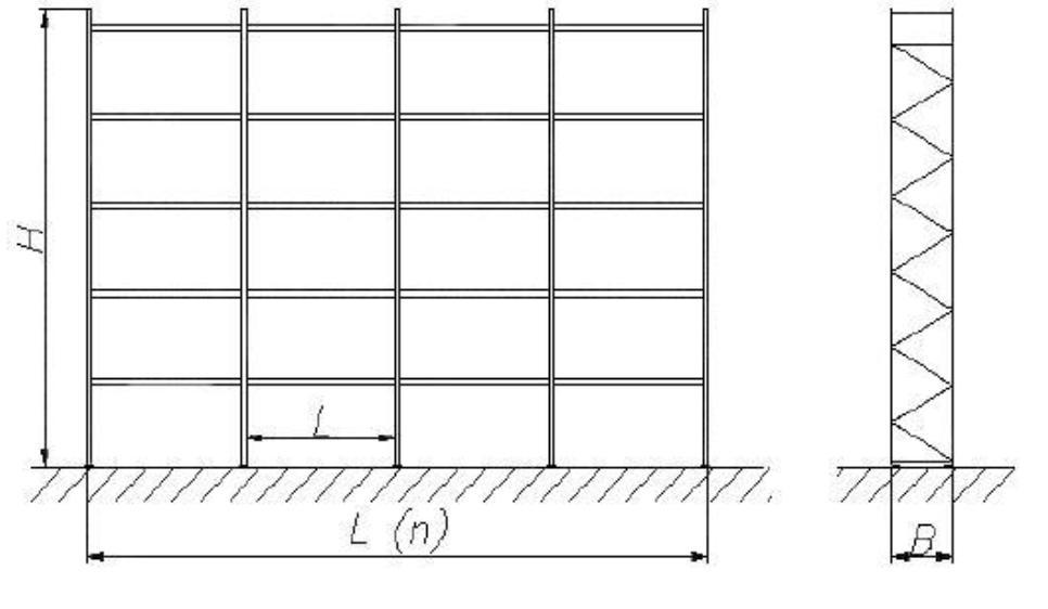 Рисунок 1 - Общий вид фронтального стеллажа