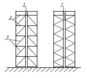 Рисунок 14 - Схема установки межрамных связей