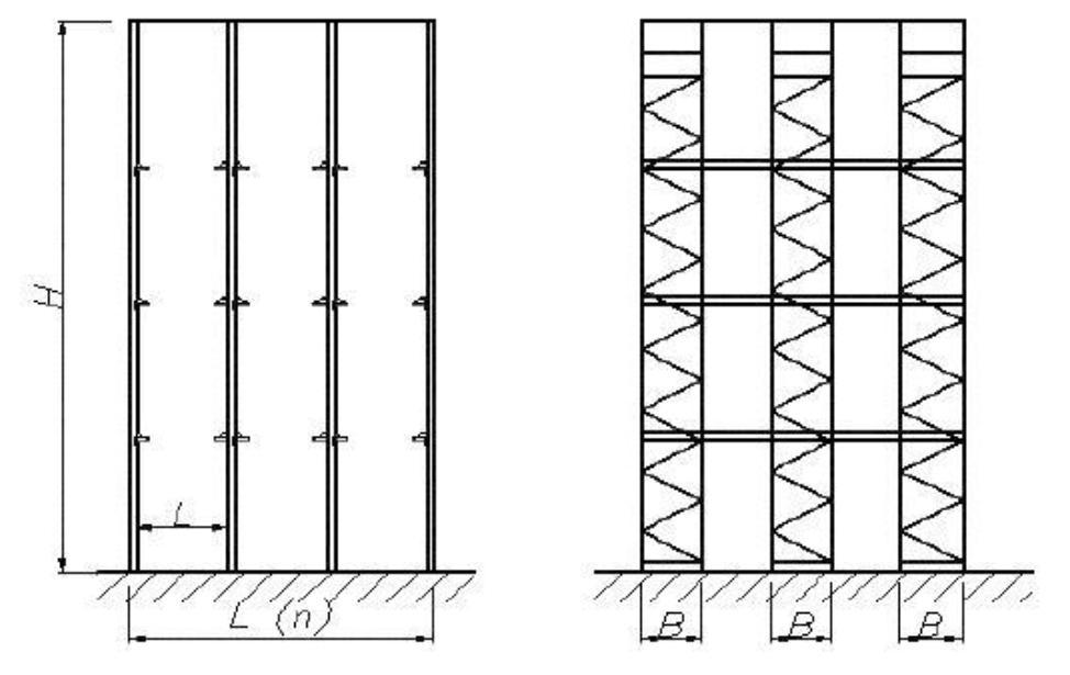 Рисунок 2 - Общий вид набивного (глубинного) стеллажа