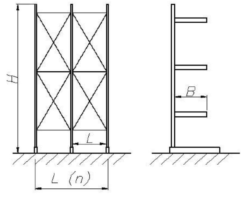 Рисунок 3 - Общий вид консольного стеллажа